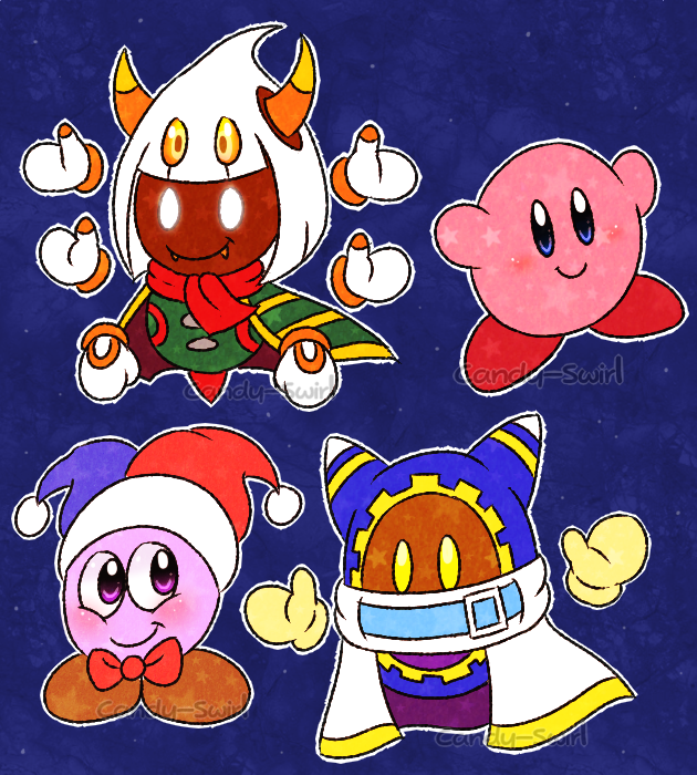 Little Kirby Characters by Candy-Swirl