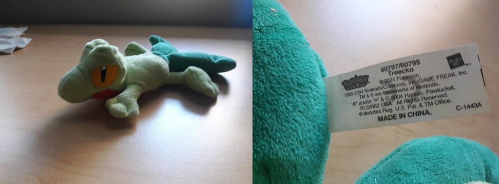 2004 Pokemon Advanced Hasbro Treecko Plush by PokeLoveroftheWorld