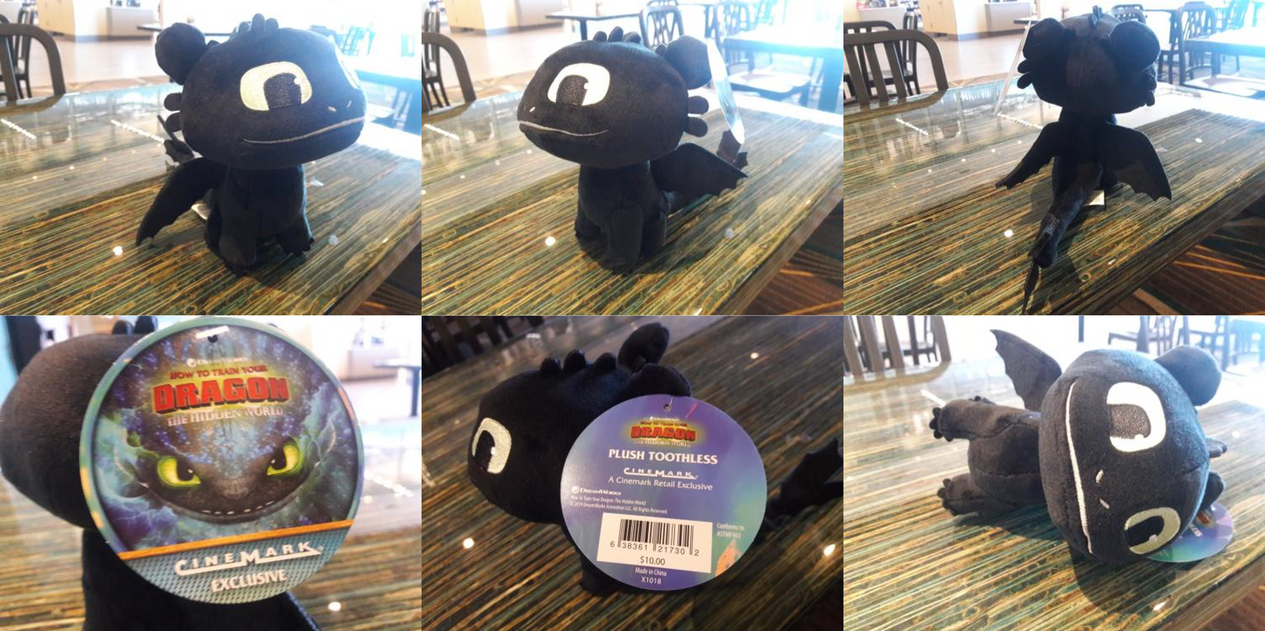 2019 Cinemark Theaters Exclusive Toothless Plush by
