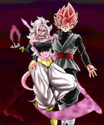 Majin Android 21 x Goku Black Rose by turles17