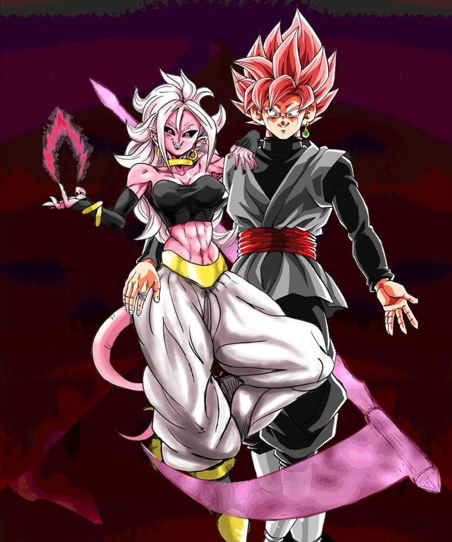 Dragon Ball Android 21: Majin Android 21 X Goku Black Rose By Turles17 On DeviantArt