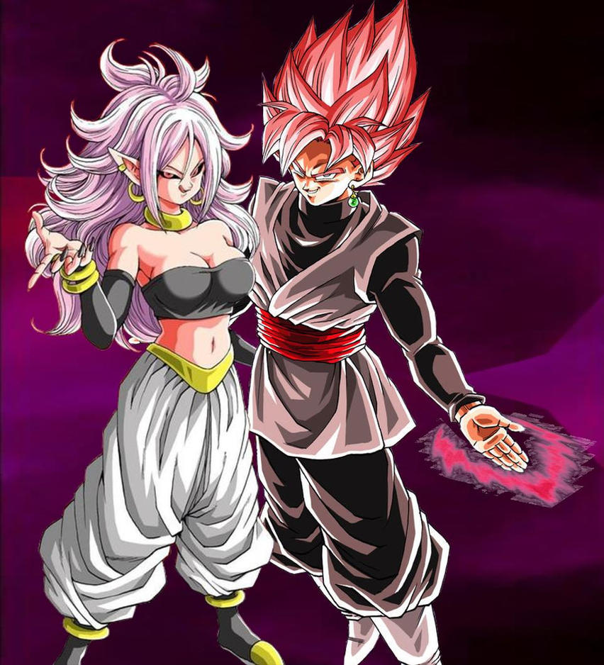 Dragon Ball Android 21: Majin Android 21 X Goku Black Rose Part 2 By Turles17 On