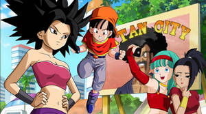 Saiyans Girls Meet Saiyans Girls