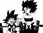 Kid Goku and Caulifla