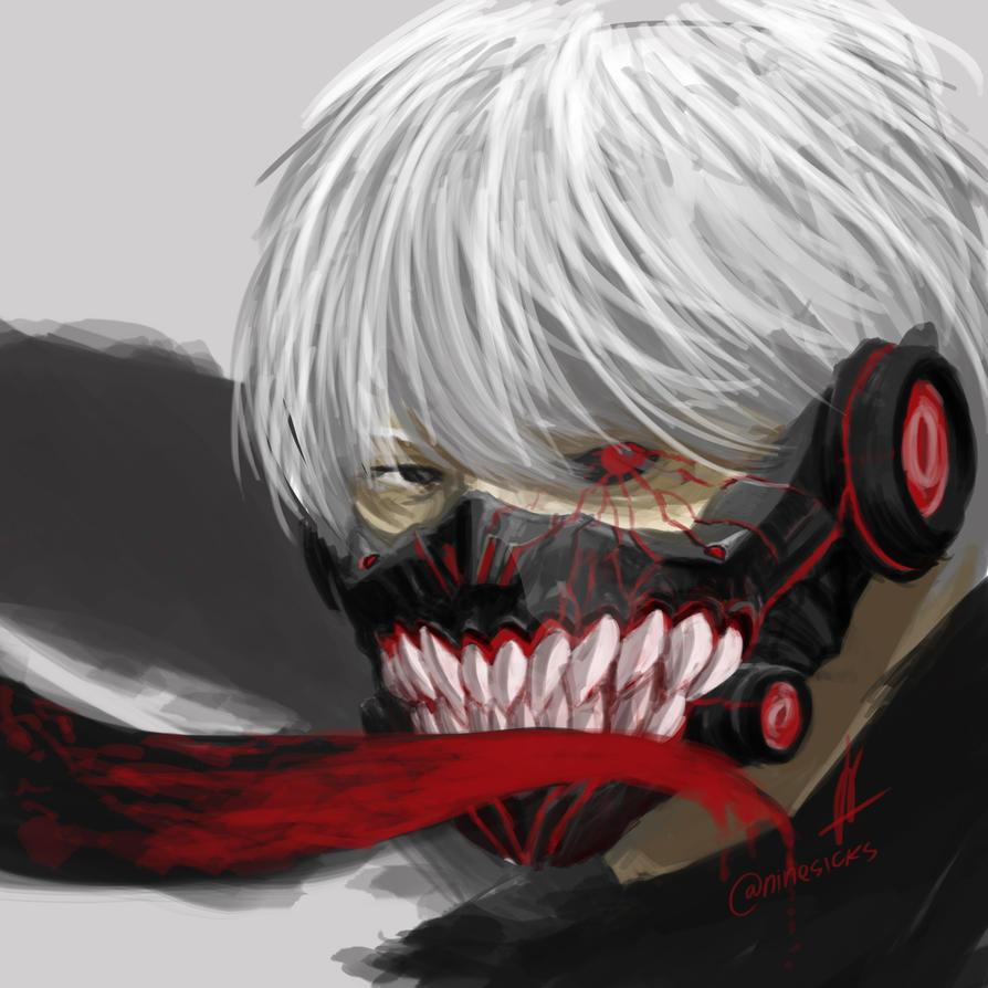 Kaneki new mask by nachan96