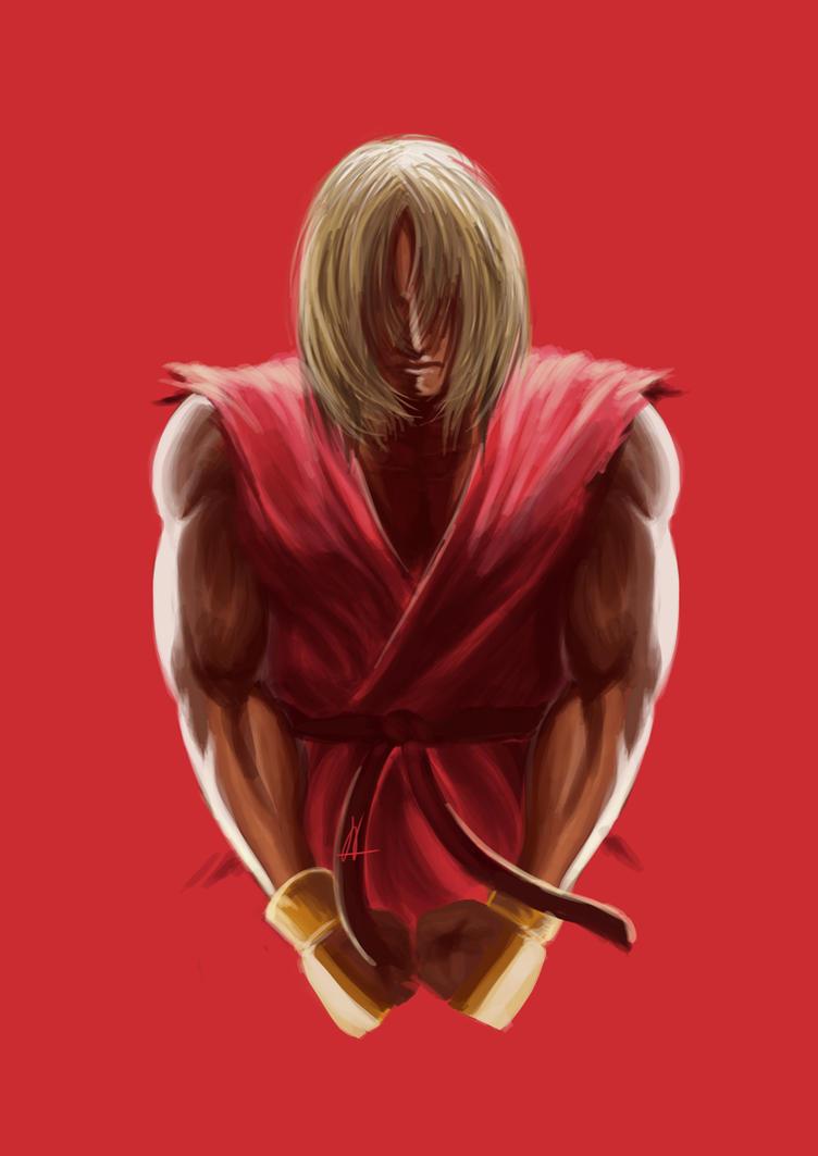 Fanart of Ken from Street Fighter Assassin's Fist by nachan96