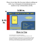 Vault ID Card (customizable free download)