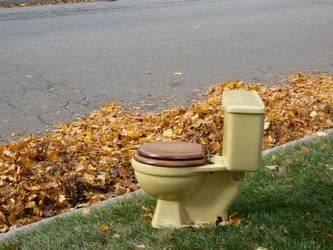 Lone Yellow toilet by Princesstekki
