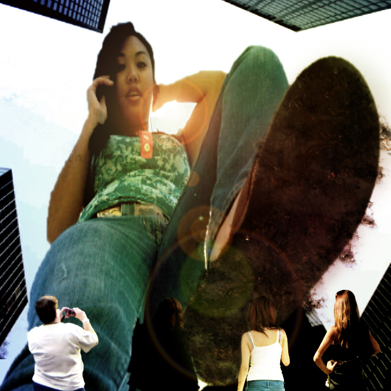 Asian giantess crush