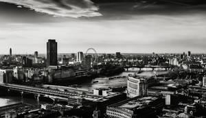 London Landscape XV BW by LostChemist