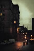 Edinburgh Streets - Night I by LostChemist