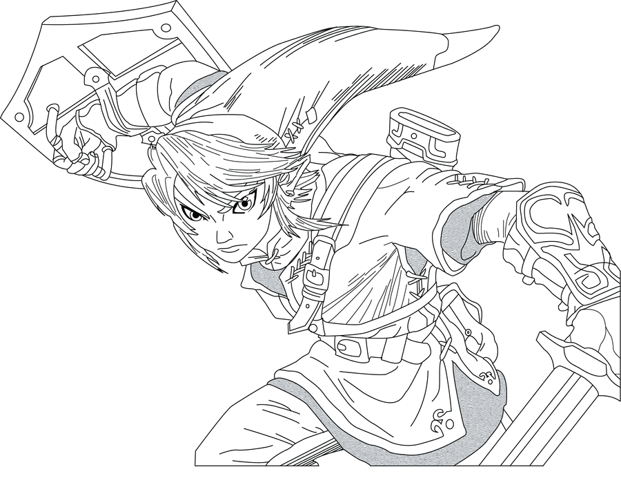 Line Art Zelda : Link twilight princess by ubugub on deviantart