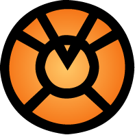 Orange Lantern Corps Ring by ubugub