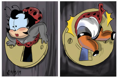 Lady Bug in the Keyhole by SteLo-Productions95
