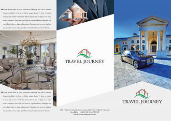Free Clean Real Estate Brochure Template PSD #1