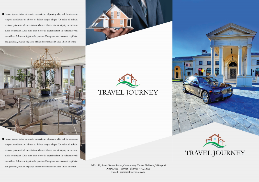 Free clean real estate brochure template psd 1 by for Real estate prospectus template