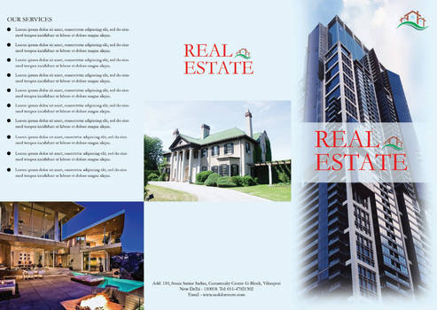 Free Real Estate Brochure Template PSD #2