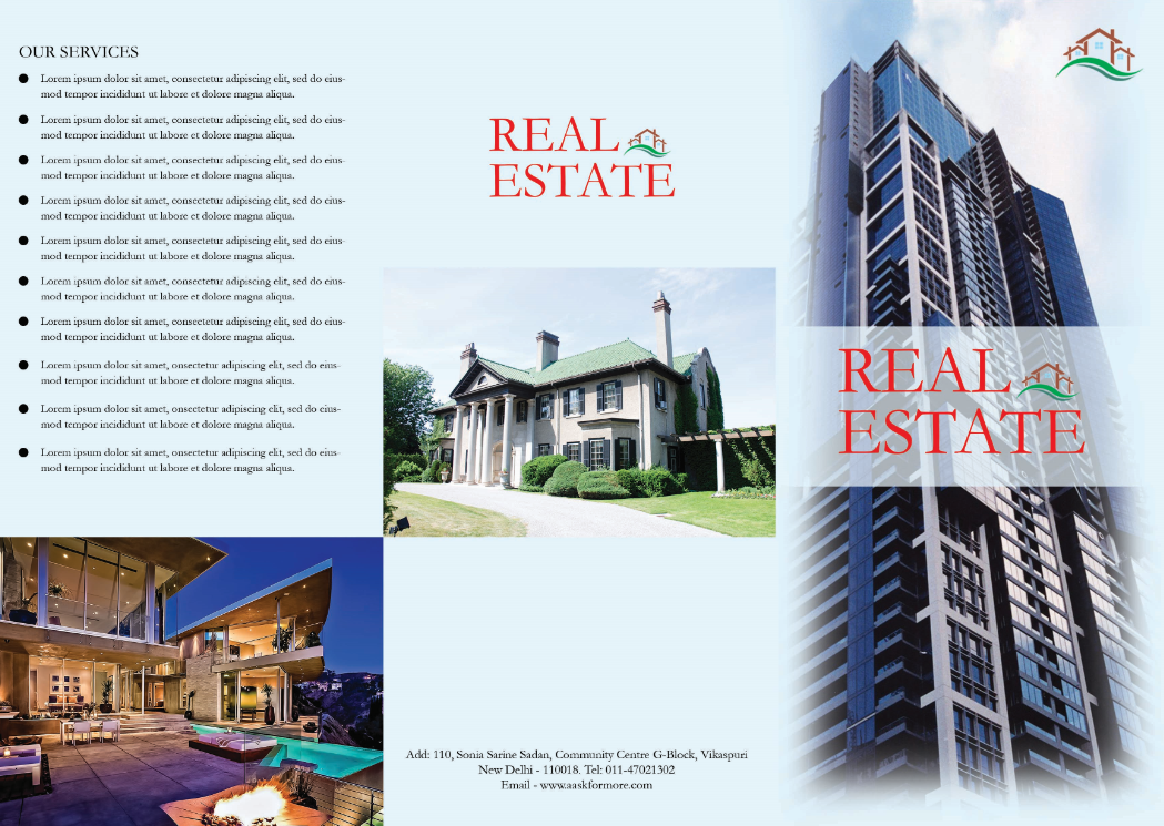 Free Real Estate Brochure Template PSD By PSDTemplatesBlog On - Free real estate brochure templates