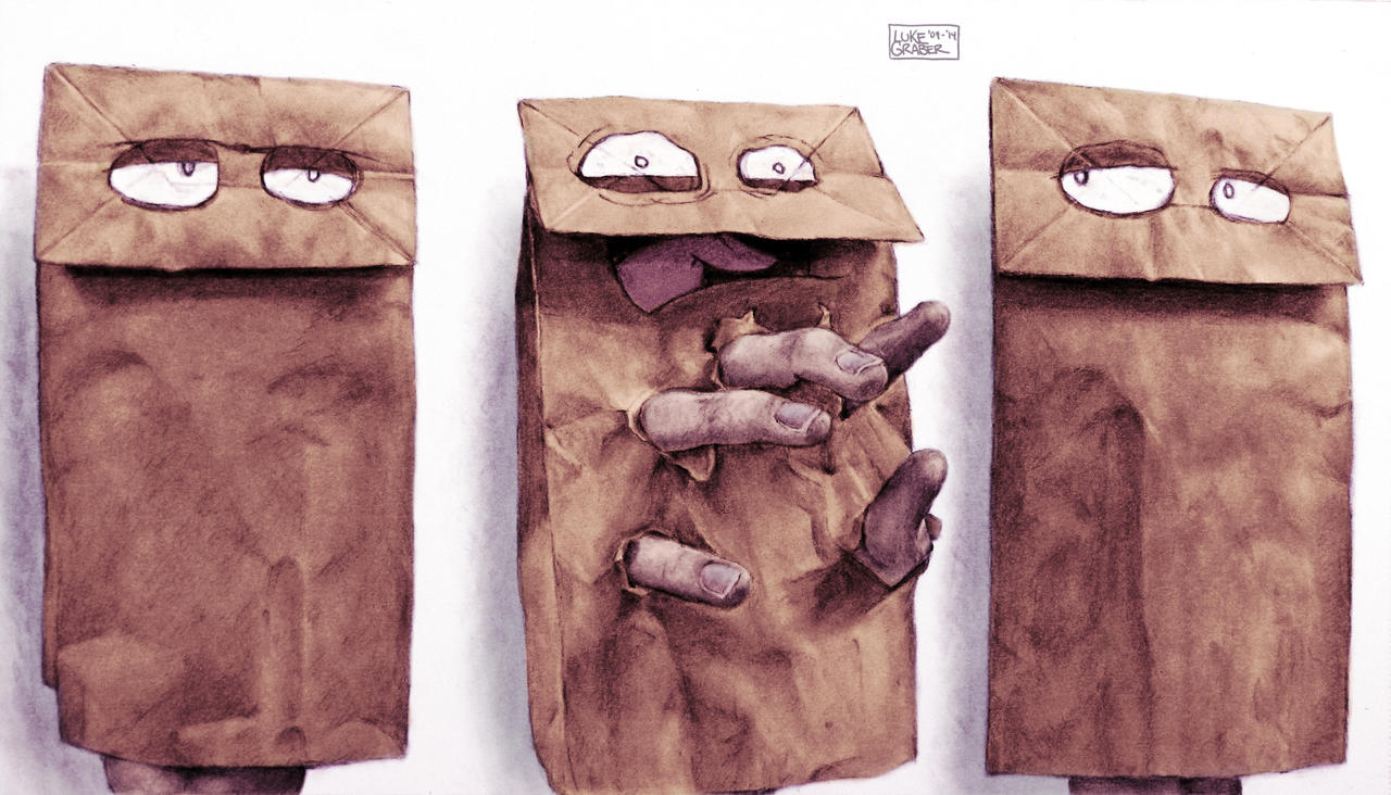 Paper Bags (Color) by LukeGraber