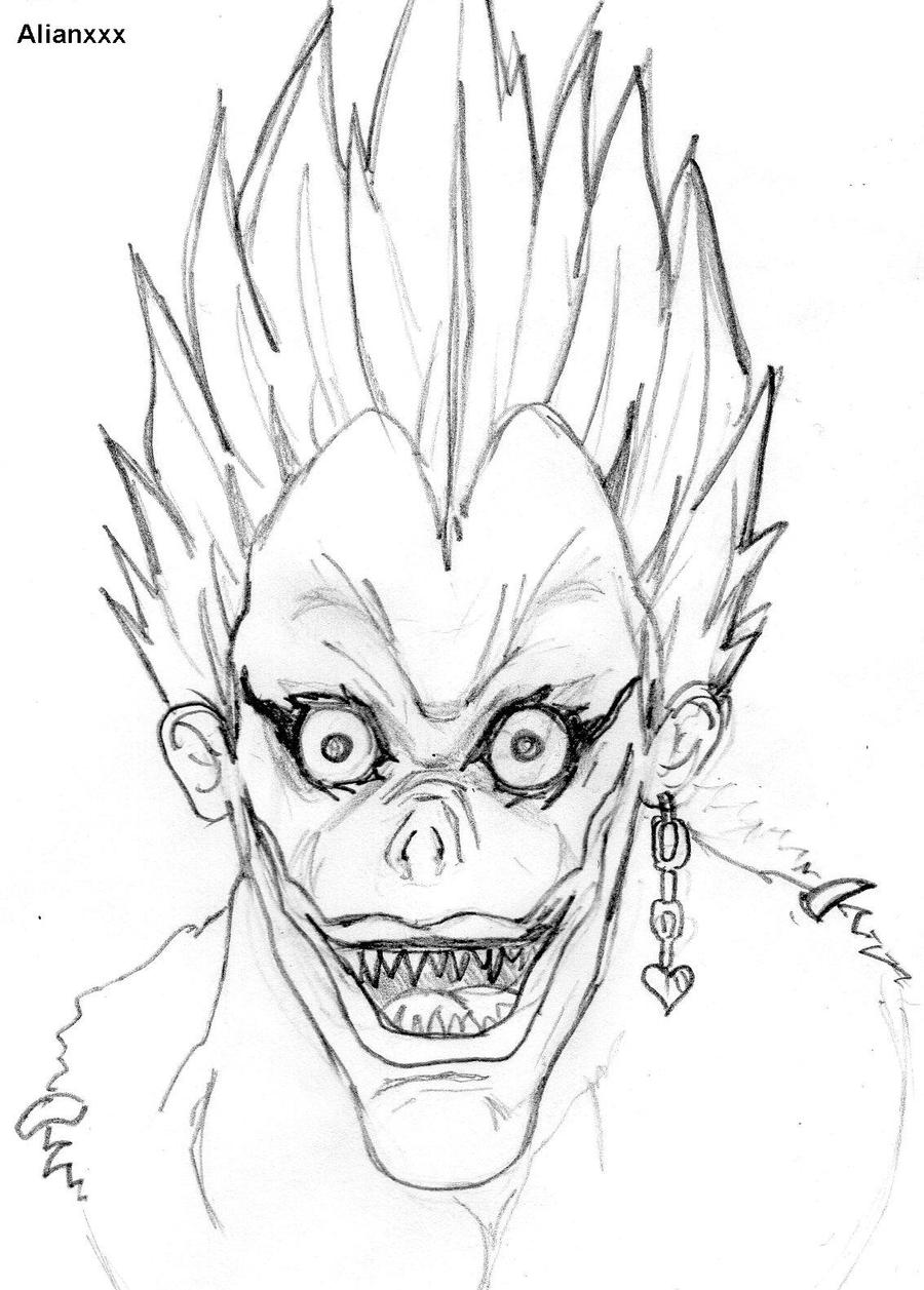 Death Note Ryuk Coloring Pages Sketch Coloring Page