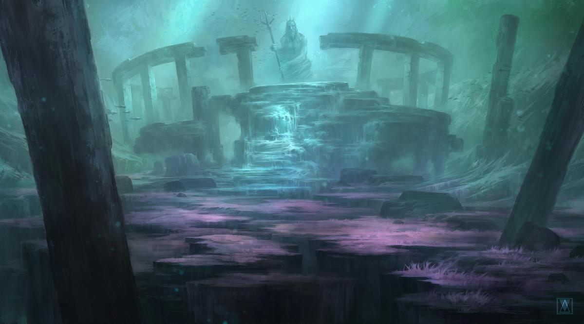 Real Underwater Ruins Underwater ruins by MikaelWang