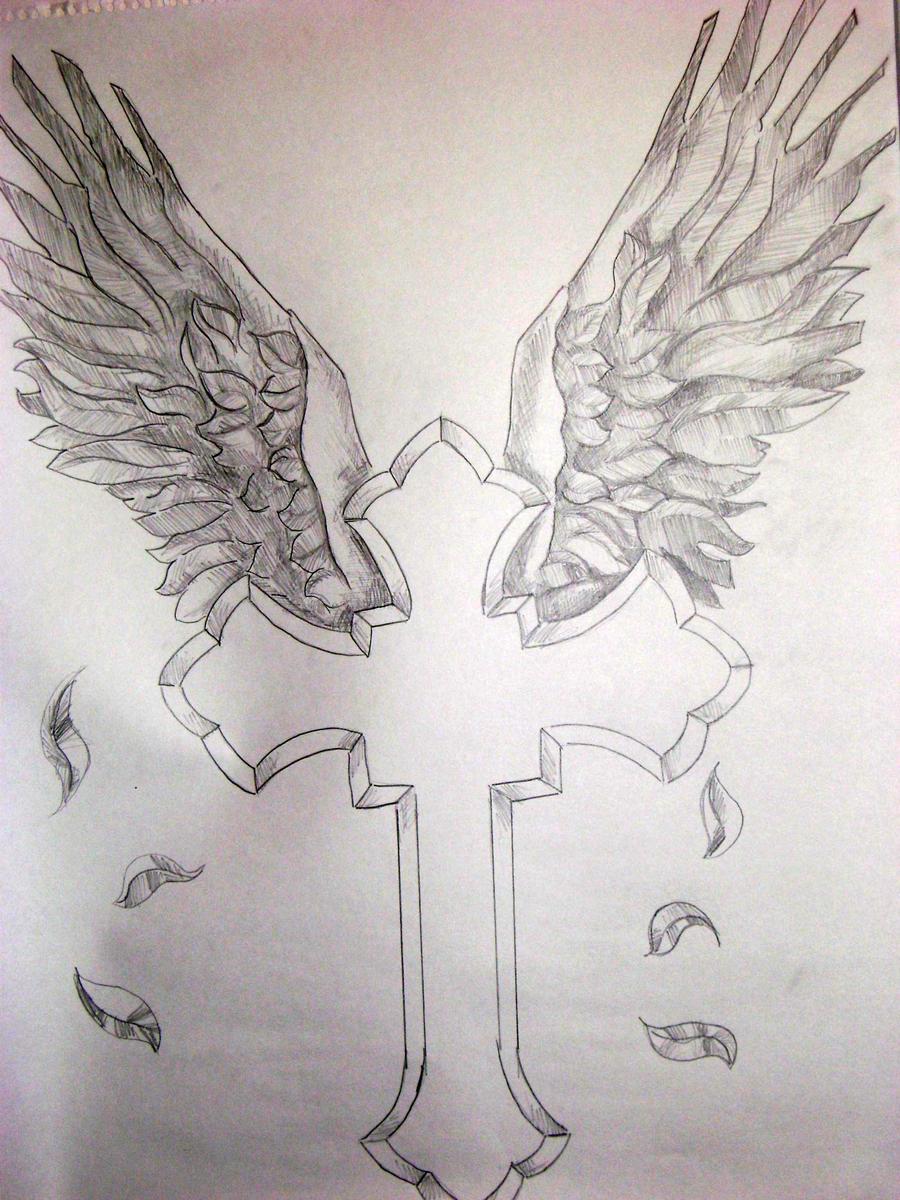 cross and wings by williamjblaylockiii on deviantart
