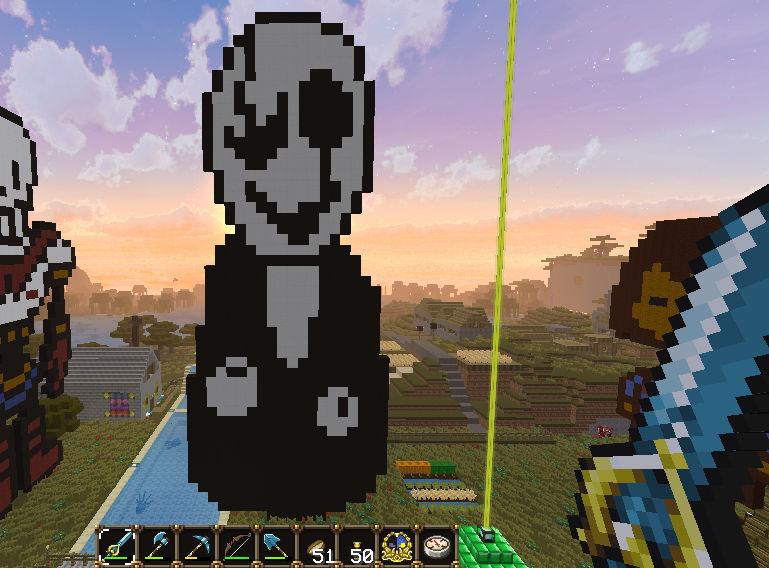 Minecraft Art - W.D. Gaster (with body)