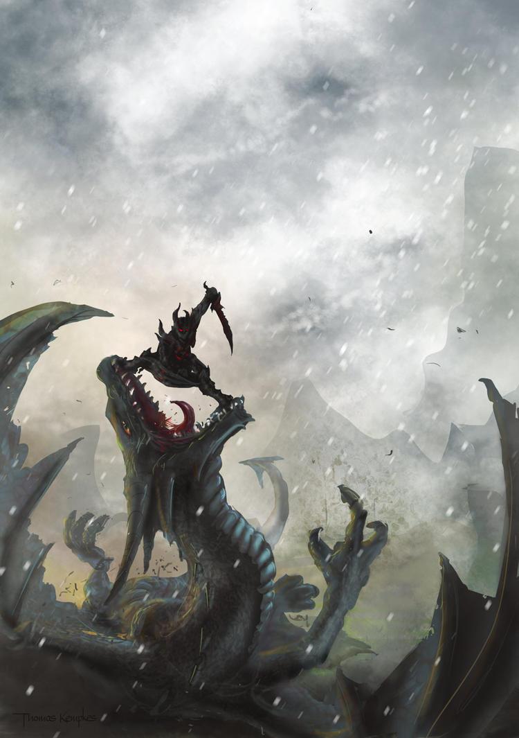 dragonfall - skyrim fanart by Zerrnichter