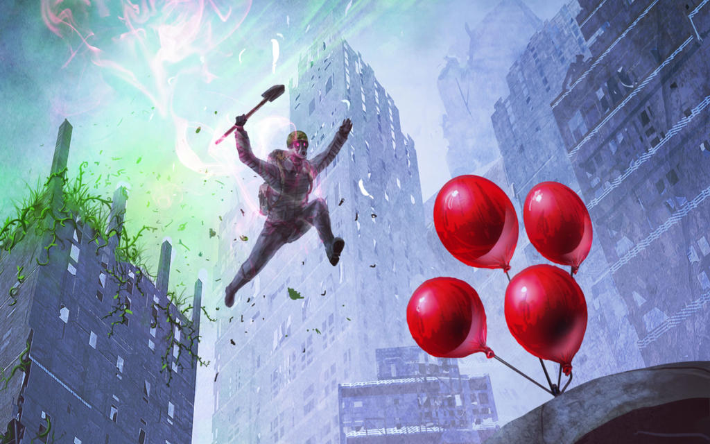 Wallpaper RA Stalky loves balloons too much by Zerrnichter