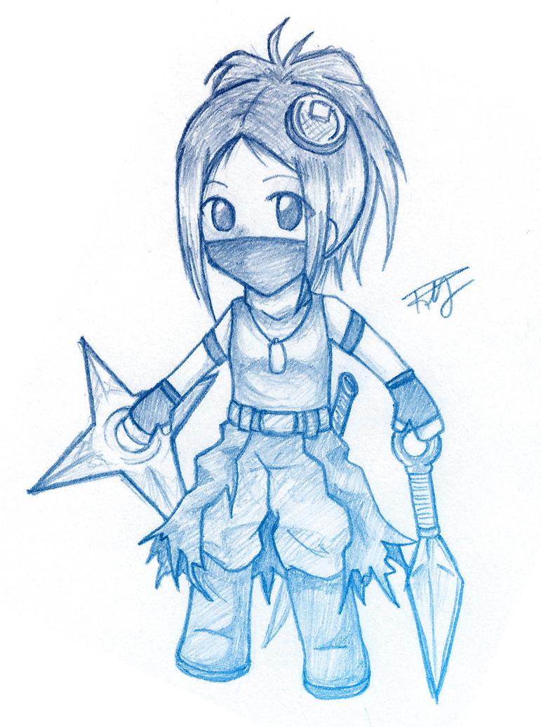 Waffle Ninja Sketch by Bunguin