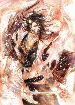 Bleach Byakuya by RAE