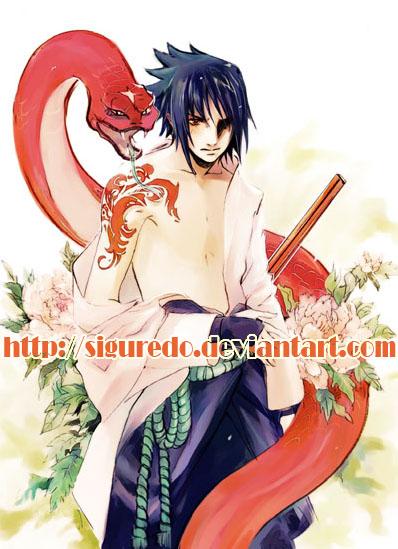 Shel - Sasuke snake 2 by siguredo