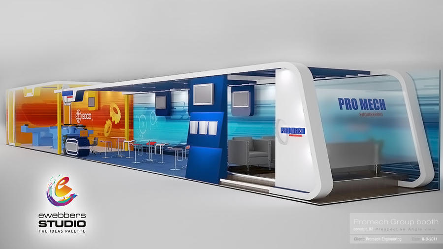 Exhibition Booth Concept : Promech booth design concept by moohhamm on deviantart