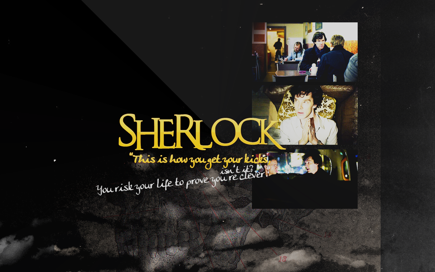 Sherlock BBC Wallpaper by peppermintfrogs