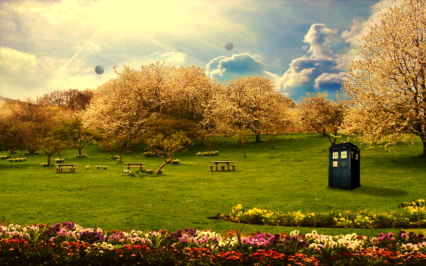 Tardis in the Park by peppermintfrogs