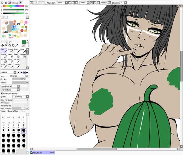 lusting for cu...cucumber -wip- by THE-DARK-MIA