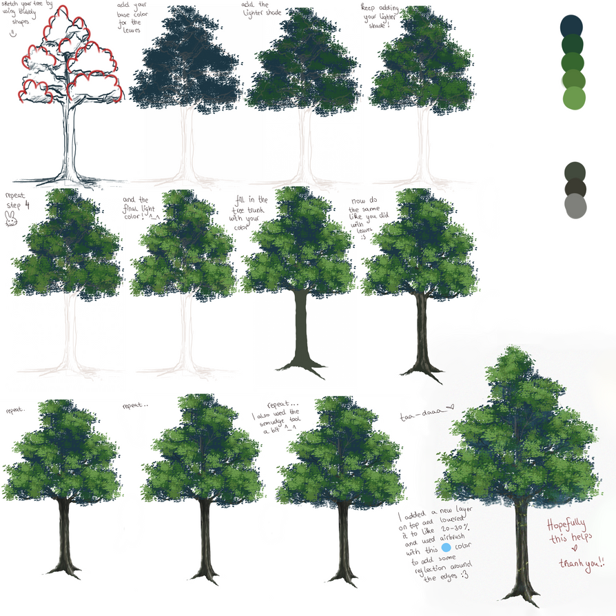 Anime tree tutorial =) by liamsi4 on DeviantArt