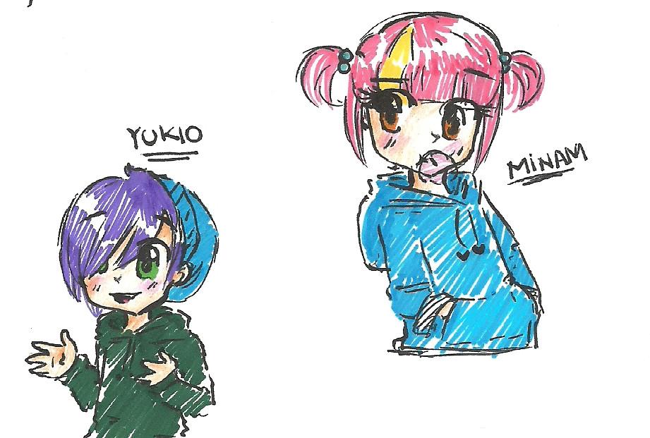 .:Little Minam and Yukio:. by meri-phinbella