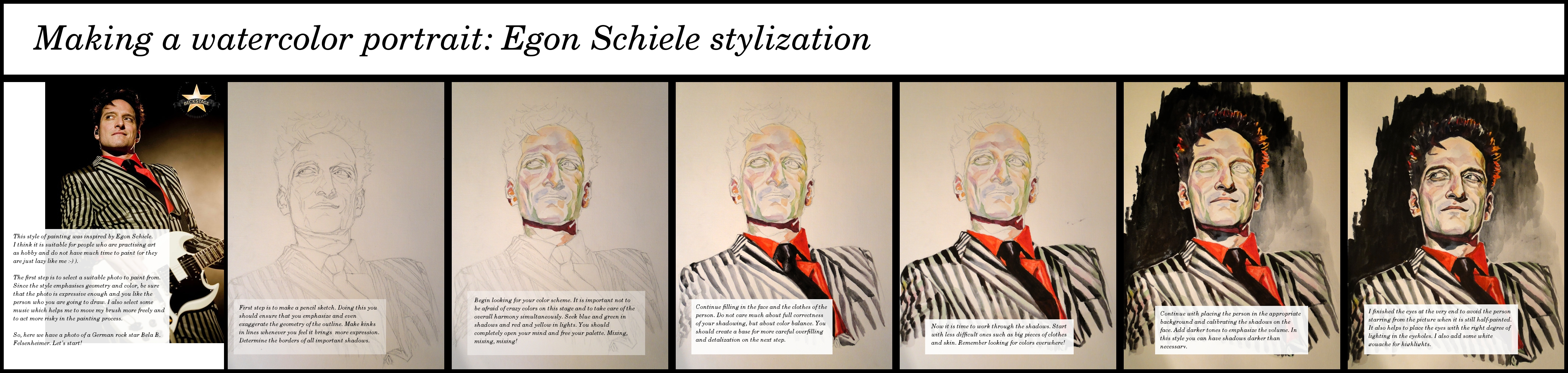 stylized watercolor portrait tutorial by krysyonysh on deviantart