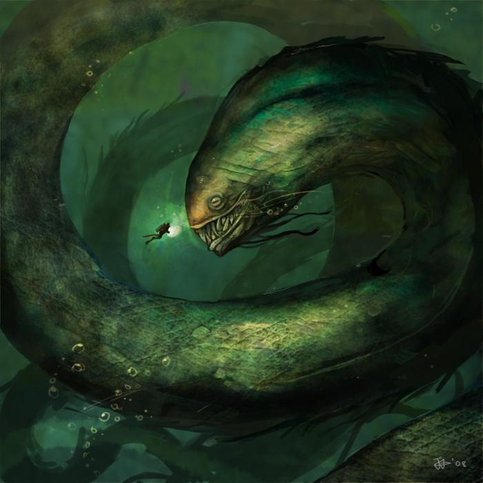 [Evento Global] El Rugir del Mar ~ Ewige Regein - Cuidado con provocar a Jörmundgander ヽ(゚д゚)ノ - Página 2 Sea_Monster_by_NgJas
