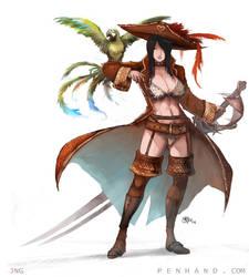 Pirate Captain Concept by NgJas