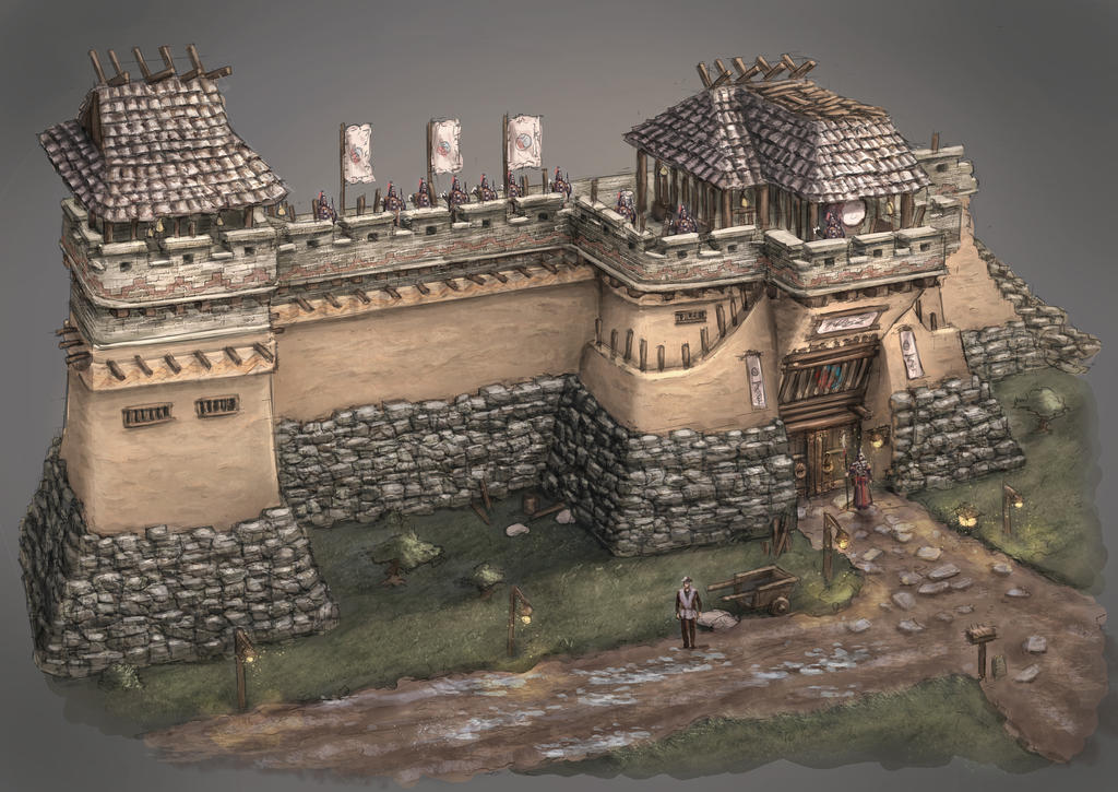 Fortress wall by ortsm...
