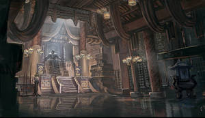 The lord in the throne room