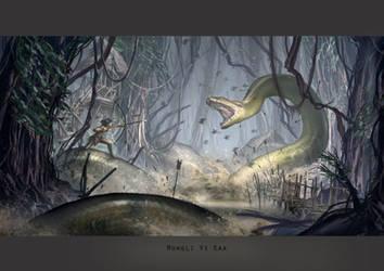 Mowgli Vs Kaa by ortsmor