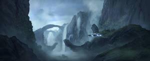 sci-fi matte painting