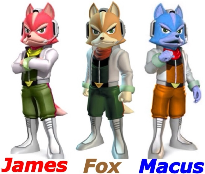 James And Fox Mccloud James, Fox and Marcus ...