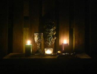 Outside Altar at Samhain