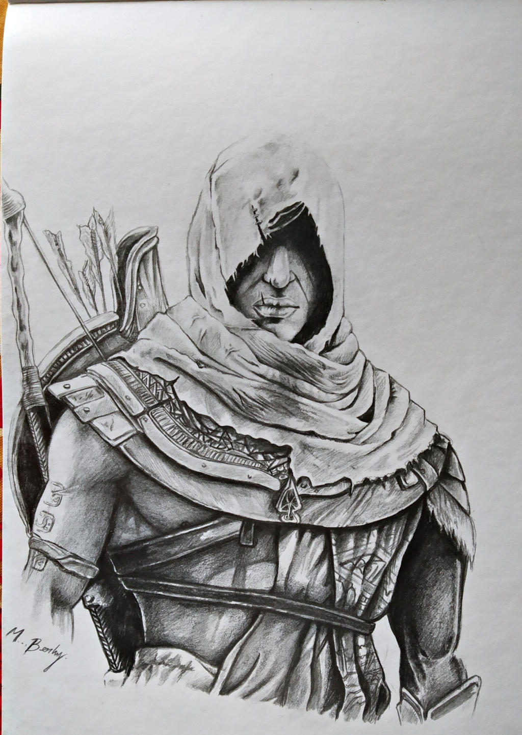 Drawing Assassins Creed Origins Bayek Of Siwa By Skmartines On Deviantart