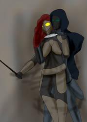 Skitter and Shadow Stalker - fanart of Worm by Ingwe-Djerid