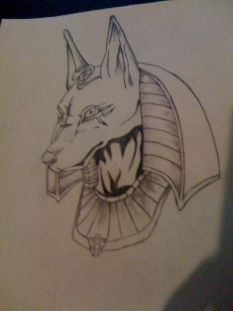 Anubis Pencil drawing by DeathWoof on DeviantArt